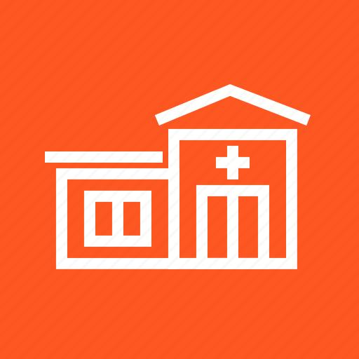 clinic, emergency, hospital, room icon