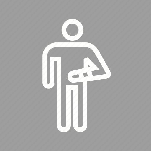 bandaged, injured, person, treatment icon