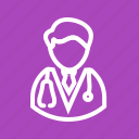 beet, doctor, heart, male, stethoscope, treatment icon