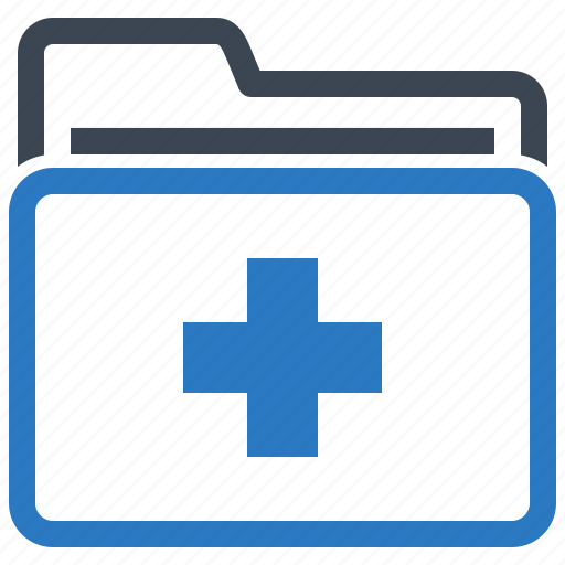 folder, health records, medical file, medical records icon