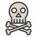 anatomy, bone, danger, dead, hospital, medical, skull icon