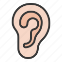 anatomy, ear, hospital, medical, organ icon
