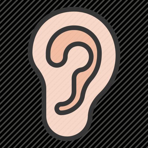 anatomy, ear, hospital, medical, organ icon