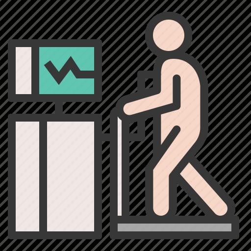 cardiac stress test, exercise stress test, hospital, medical, stress test, stress test machine icon