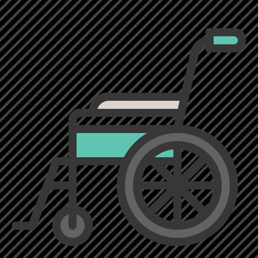 chair, disabled, hospital, medical, wheel, wheelchair icon