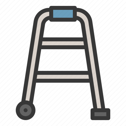 hospital, medical, physiotherapy, tool, walker, walking icon