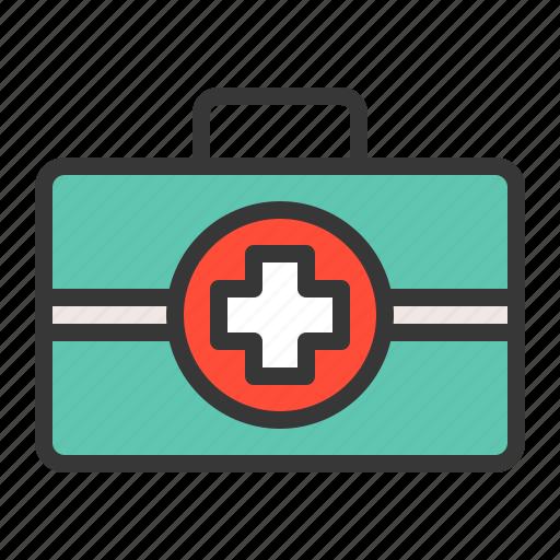 first aid, hospital, medical, medical box, medical equipment, medicine, treatment icon