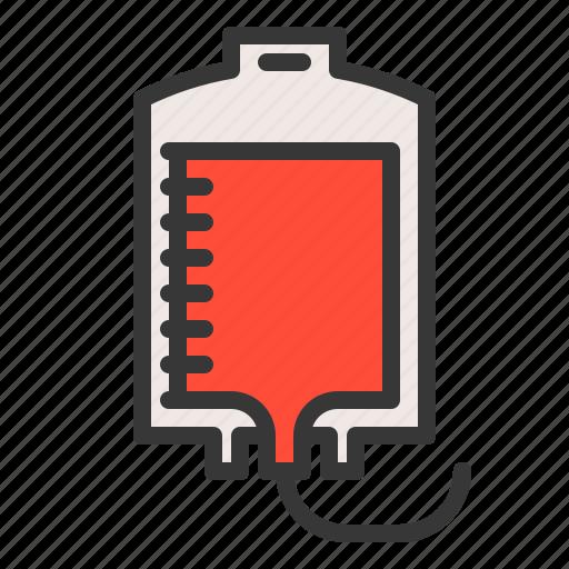 blood, blood bag, blood transfusion, hospital, medical, treatment icon