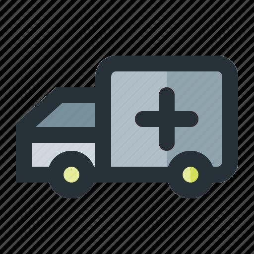 ambulance, car, hospital icon