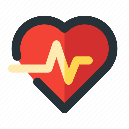 heart, hospital, medical, rate icon