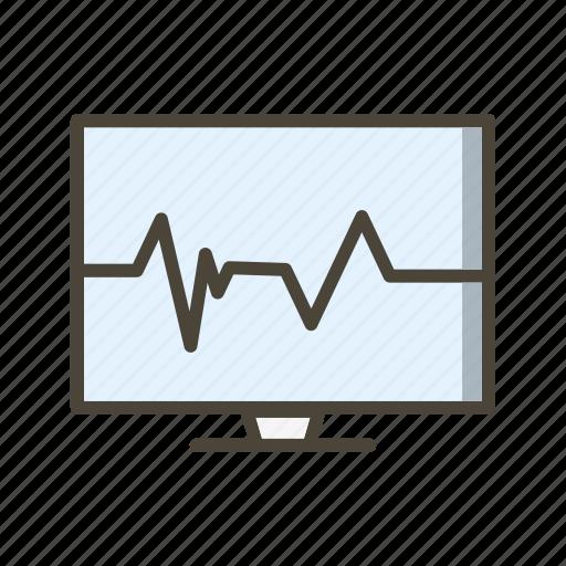 ecg, pulse, pulse rate icon