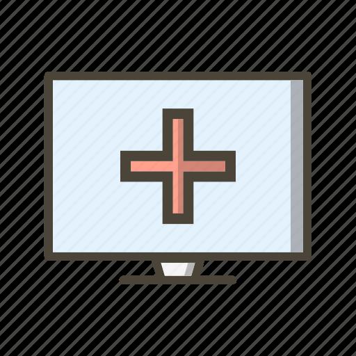 online medical, online medical help icon