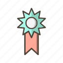 reward, ribbon, winner icon