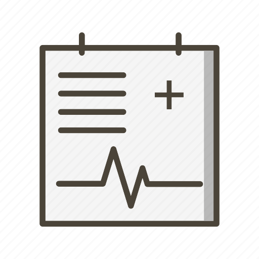medical chart, medical file, medical report icon