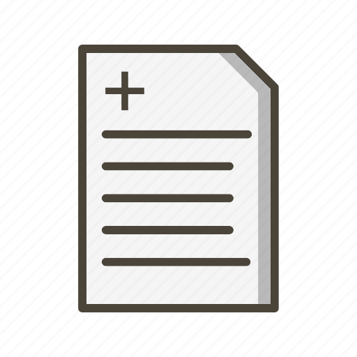 medical chart, medical document, medical report icon