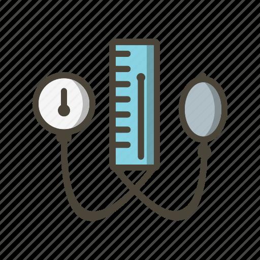 blood pressure machine, bp apparatus, healthcare icon