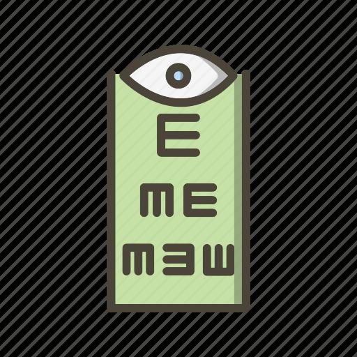 eye test, medical, optometrist icon