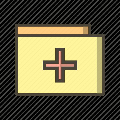 medical document, medical file, medical folder icon