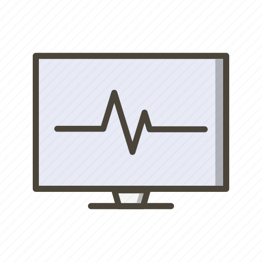 ecg monitor, heart beat, pulse rate icon