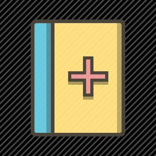 book, healthcare, medical book icon