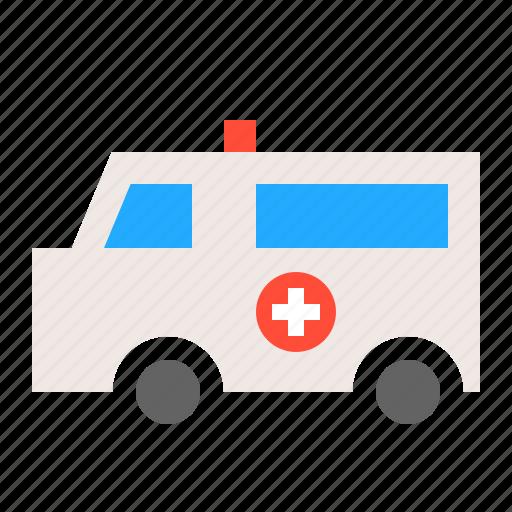 ambulance, car, hospital, medical, transport, van, vehicle icon