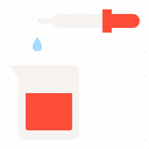 beaker, chemistry, dropper, experiment, lab, medical, research icon
