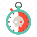 alarm, clock, danger, healthcare, medical, stopwatch, time icon