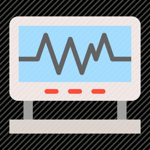emergency, medical, monitoring, signal, vital signs icon
