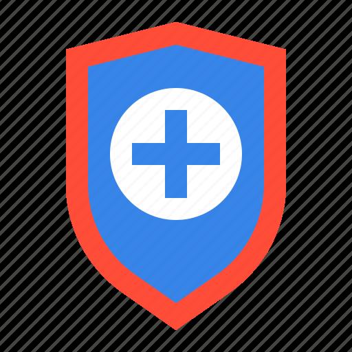 guard, health, healthcare, medic, medical, shield, sign icon