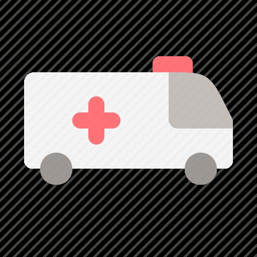 ambulance, care, emergency, health, hospital, medical, sick icon