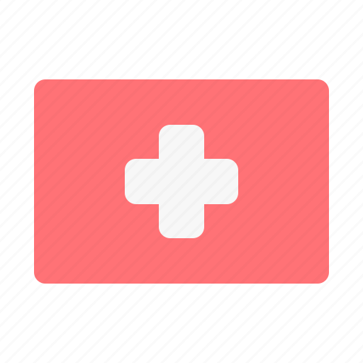 care, cross, flag, health, hospital, medical, red icon