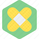 adhesive, aid, bandage, healthcare, medical, plaster, treatment icon