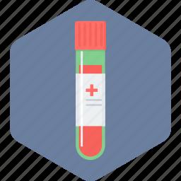 blood, blood sample, flask, sample, test, tube icon