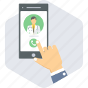 call, call doctor, doctor, mobile, video call icon