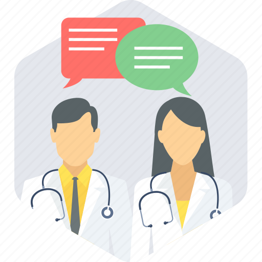 communication, conversation, doctor, interaction icon