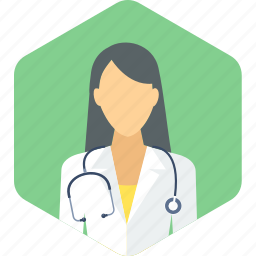 doctor, female, gynecologist, lady, practitioner, stethoscope, surgeon icon