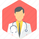 gent, doctor, stethoscope, surgeon, male, practitioner icon