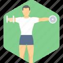 exercise, bodybuilding, fitness, training icon