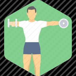 bodybuilding, exercise, fitness, training icon