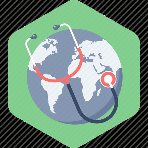 global, healthcare, medicine icon