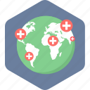 global, medical, care, healthcare, hospital icon