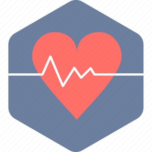 beat, ecg, heart, heart rate, lines, pulsation, pulse icon