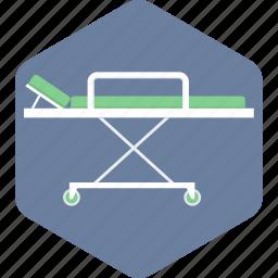 emergency, patient, stretcher icon