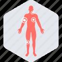 checker, symptom, body, anatomy, medical icon