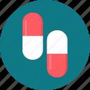 capsule, capsules, drugs, medicine, medicines, pills icon