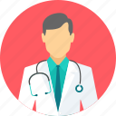 doctor, male, medical, physician, practitioner, stethoscope, surgeon icon