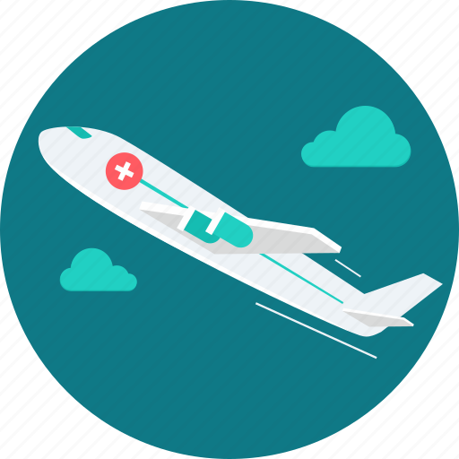 air paramedic, ambulance, emergency, healthcare, medical, plane, transport icon