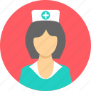 female, healthcare, medical, nurse, sister icon
