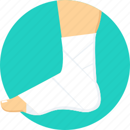 ankle, bandage, foot, fracture, injury, plaster, sprain icon