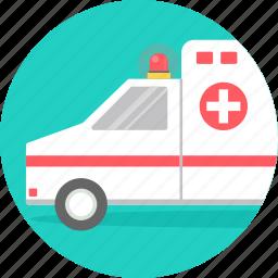ambulance, car, emergency, hospital, medical, transport, vehicle icon